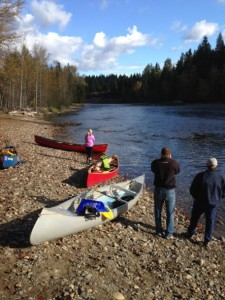 canoeing on the shuswap river