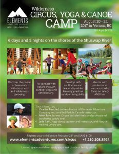 circus canoe camp for youth in vernon bc