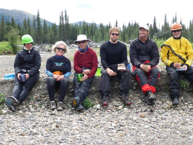 upper stikine river canoeing trip team photo