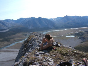 On top of Wolf Mountain, Yukon