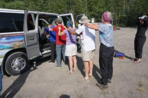 team building exercises while out on a canoeing trip