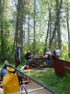 canoeing trip lunch break