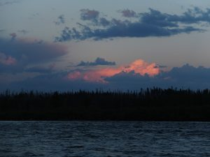 sunset stikine river
